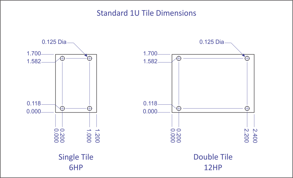 Floor tile dimensions